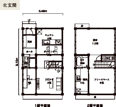SEED 3x5-N 間取り