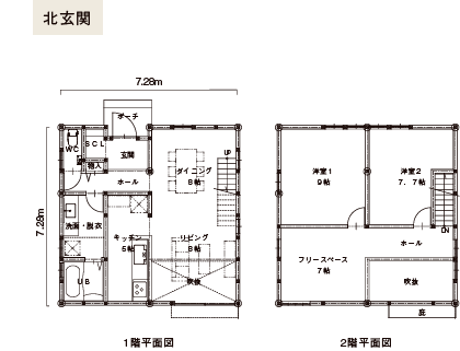SEED 4x4-N 間取り